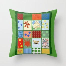 WINTER QUILT Throw Pillow