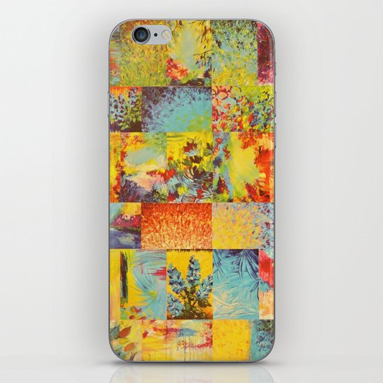 COLORFUL INDECISION 2 - Vibrant Wow Beautiful Abstract Acrylic Painting Collection Nature Rainbow iPhone & iPod Skin