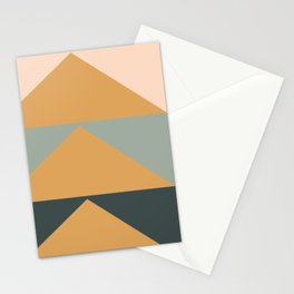 Triangles in Blush, Gray, and Honey Stationery Cards
