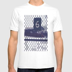 Six  White Mens Fitted Tee MEDIUM