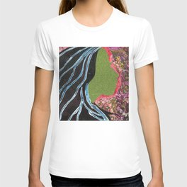 Black Hair Lady T-shirt
