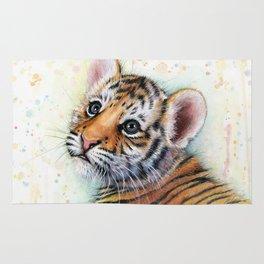 Tiger Cub Watercolor Rug