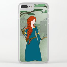 Fierce Merida Clear iPhone Case
