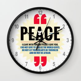 PEACE! Wall Clock