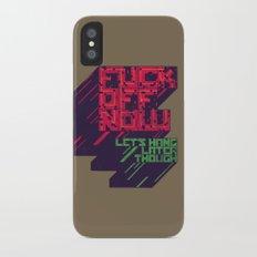 Not Now iPhone X Slim Case