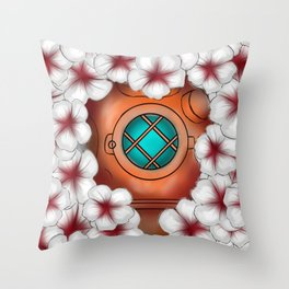 Floating in flowers Throw Pillow