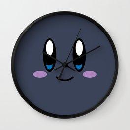 Kirby Face (Dark) Wall Clock