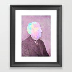 Thinking of something else Framed Art Print