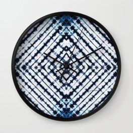 Diamonds Indigo Wall Clock