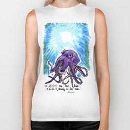 Purple Octopus - Atticus quote Biker Tank