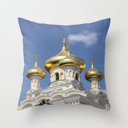 Onion Domes Alexander Nevsky Cathedral Throw Pillow
