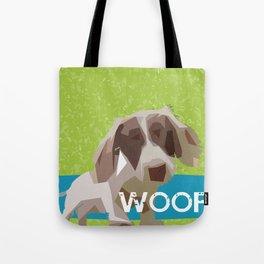 """WOOF"" ~ Dachshund, Weiner Dog, Doxie, everywhere! Tote Bag"