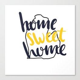 Home Sweet Home Michigan Canvas Print