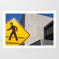 Pedestrian Art Print