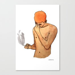 Sadness Smokes Canvas Print