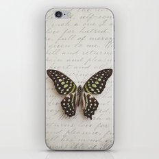 Graphium agamemnon butterfly iPhone & iPod Skin