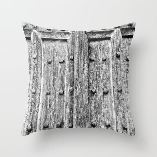 Ancient Door Throw Pillow