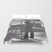 johnny cash Duvet Covers featuring Johnny Cash by Earl of Grey