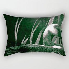 Art print: The white swan Rectangular Pillow
