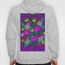 Purple Magenta Blooms Hoody