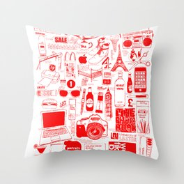 Graphics Design student poster Throw Pillow