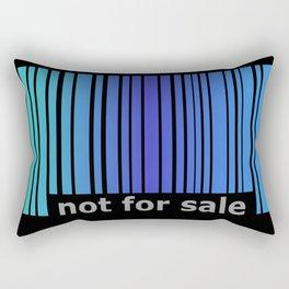 Not For Sale Barcode - Blues Rectangular Pillow