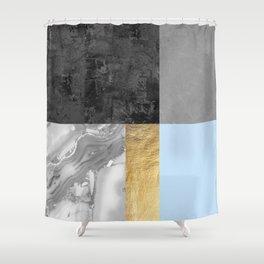 Gold collage VII Shower Curtain