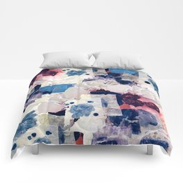 patchy collage Comforters