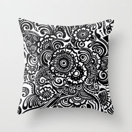 Crafted Doodle Throw Pillow