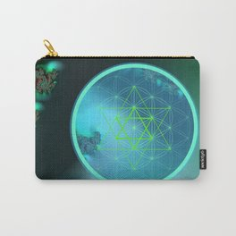 Flower of Life and six pointed Star Carry-All Pouch