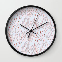 Plant leaf pattern Wall Clock