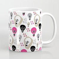 skulls Mugs featuring Skulls by KatrinDesign