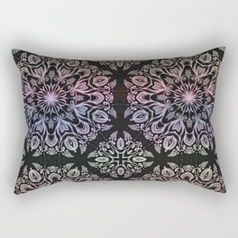 hand draw coloring mandala Rectangular Pillow