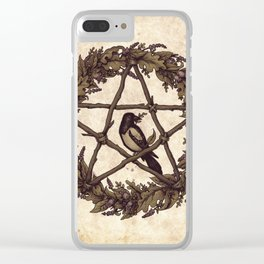 Botanical Pentacle: Wild Witch Clear iPhone Case