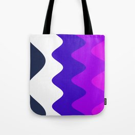 Abstract Colorful Art Waves Pattern Tote Bag