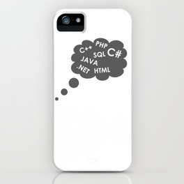 PHP JAVA HTML SQL .NET C++ C# iPhone Case