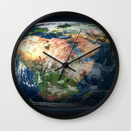 Flat Earth Society Wall Clock