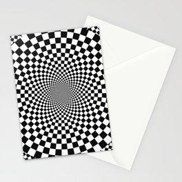 Vertigo Optical Art Stationery Cards