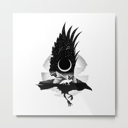 THE RAVEN AND THE FOX Metal Print