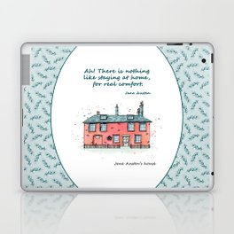 Jane Austen house and quote Laptop & iPad Skin