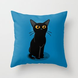 Looking at something Throw Pillow