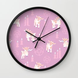 The Kids Are Alright - Pastel Pinks Wall Clock