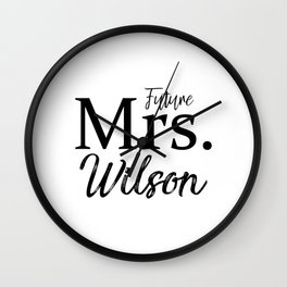 Future Mrs Slouchy Tee Shirt. Bride T-Shirt. Bachelorette Party Shirt. Bridal Shower Shirt. Bridal S Wall Clock