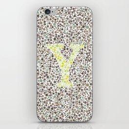 """Y"" Eye Test Letter Full iPhone Skin"