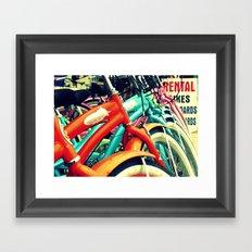 Bikes On The Beach Framed Art Print