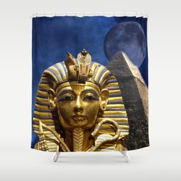 King Tut and Pyramid Shower Curtain