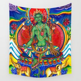 Green Tara Wall Tapestry
