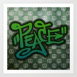 Peace (Graffiti) Art Print