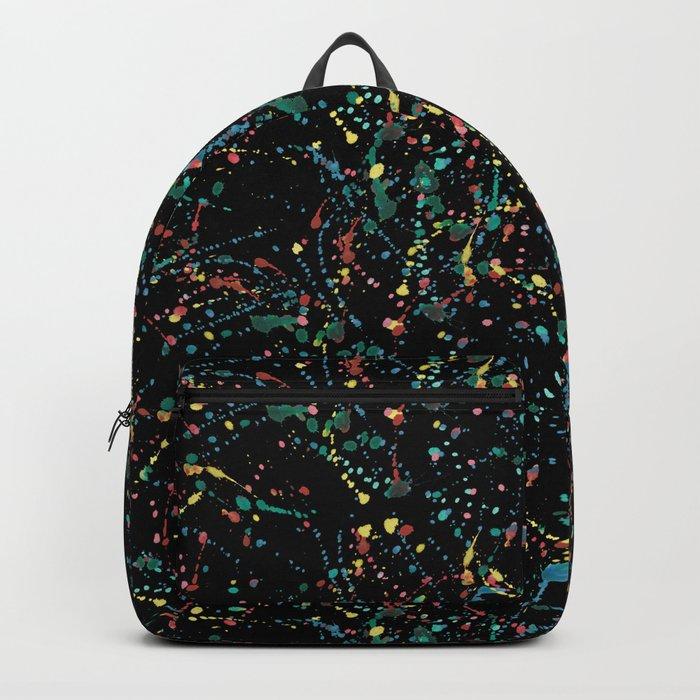 Splat Color Black R Backpack
