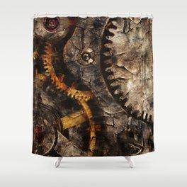 Gearing Up - Steampunk Gears Shower Curtain